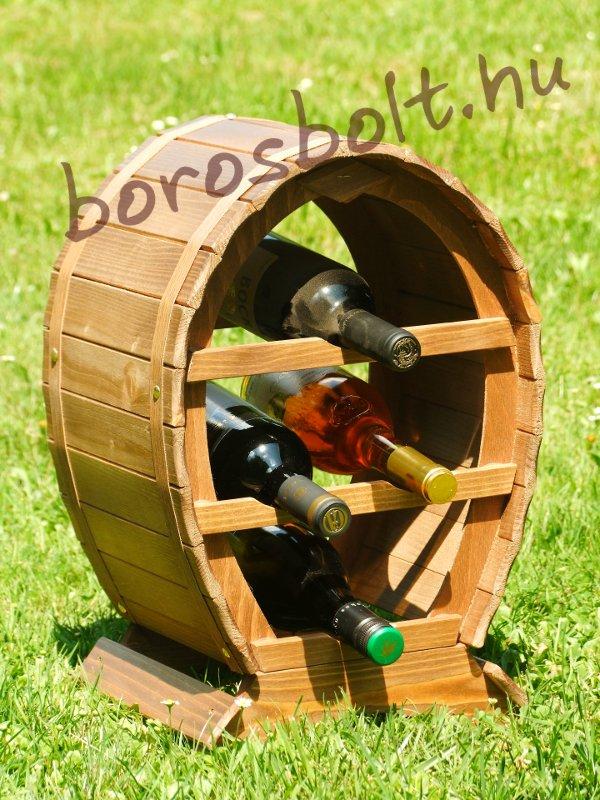 Bortartó Hordó 4 palacknak