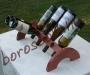 Asztali Pácolt Fa Bortartó 8 palacknak, Feliratozással is!