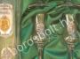 Címeres Pálinkás Készlet Díszdobozban Ón Díszítéssel
