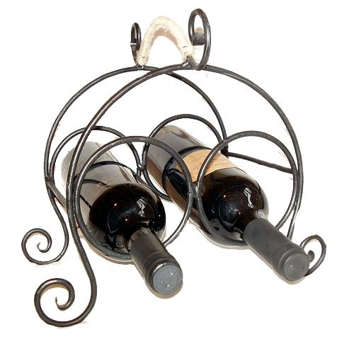 Kovácsoltvas bortartó, asztali 2-es