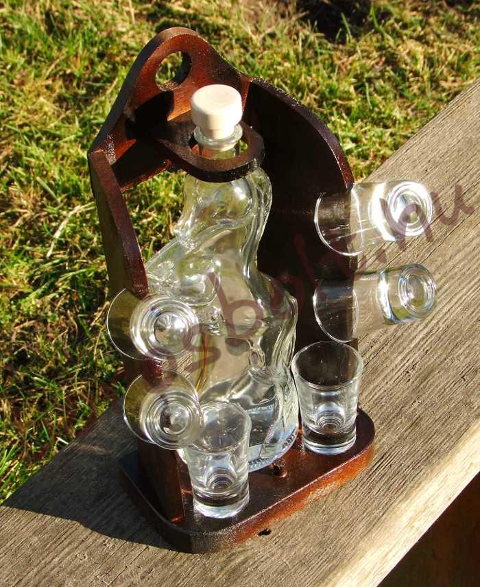 Lovas Pálinkás Készlet (Pálinkás Üveg + 6 Pohár)