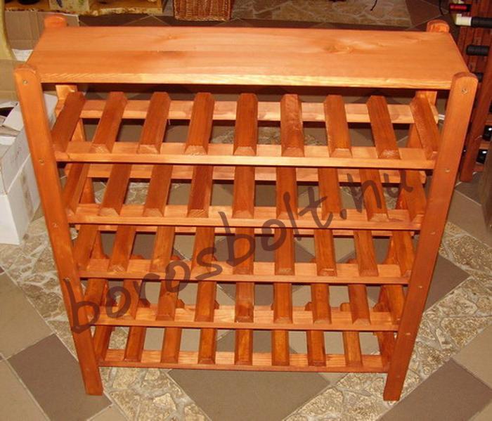 Bortartó állvány 40 palacknak Cseresznye szín